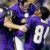 Minnesota Vikings Gary Anderson Randy Moss Celebrate
