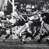Colts Offense of the Early 60s. #45 Jerry Hill, #19 John Unitas & #77 Jim Parker