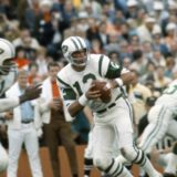 Joe Namath sets up to pass in Super Bowl III