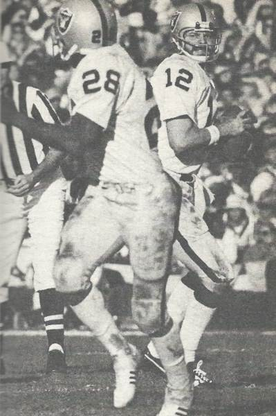 Kenny Stabler and Clarence Davis