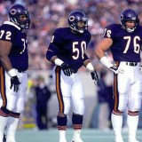 Chicago Bears Defenders William Perry Mike Singletary and Steve McMichael