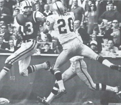 Don Maynard and Warren Powers in 1966 AFL Action