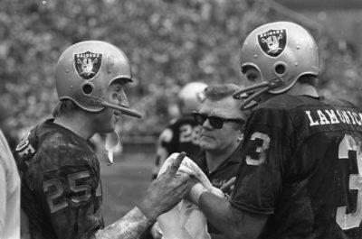 Fred Biletnikoff and Raider Quarterback Daryle Lamonica