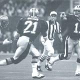 John Fourcade connects with Dalton Hillard against the 49ers