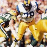 Jackie Slater Hall of Fame Offensive Tackle for the Los Angeles Rams 1976-1995