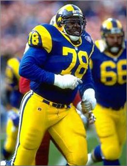 Jackie Slater of the Los Angeles Rams