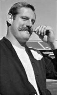 Raider Ben Davidson shows off Mustache