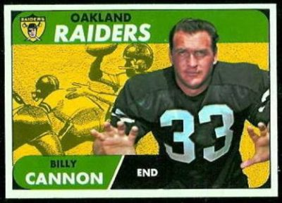 Billy Cannon's Topps Trading Card from 1968