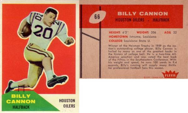 Billy Cannon's Rookie Card