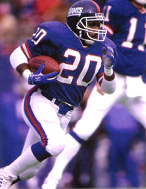 New York Giants All-Pro Runningback Joe Morris
