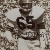 Chuck Noll as a Cleveland Brown player