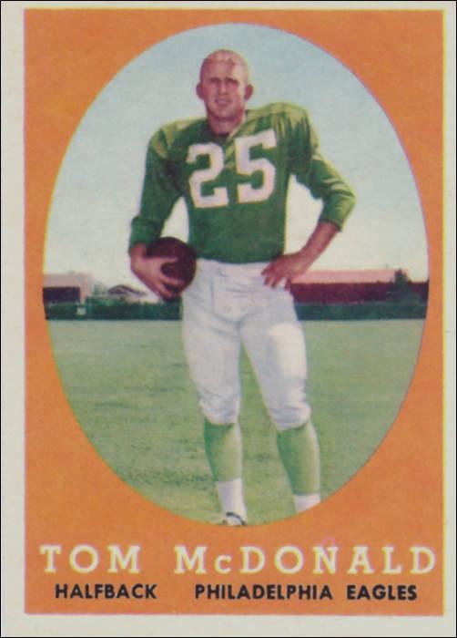 Tommy McDonald 1957 Philadelphia Eagles Rookie Card