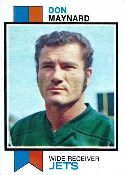 Don Maynard 1973 New York Jets Topps Football Card