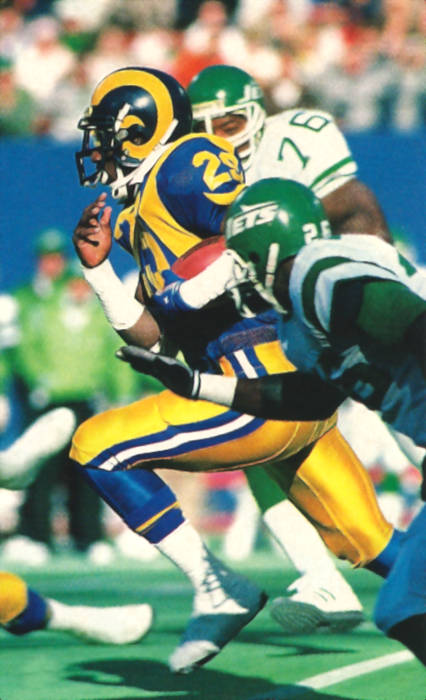 ee3867d45 The 1986 NFL Offensive Player of the Year he rushed for 1821 yards. His 404  carries that year still ranks #4 in league history. Eric Dickerson