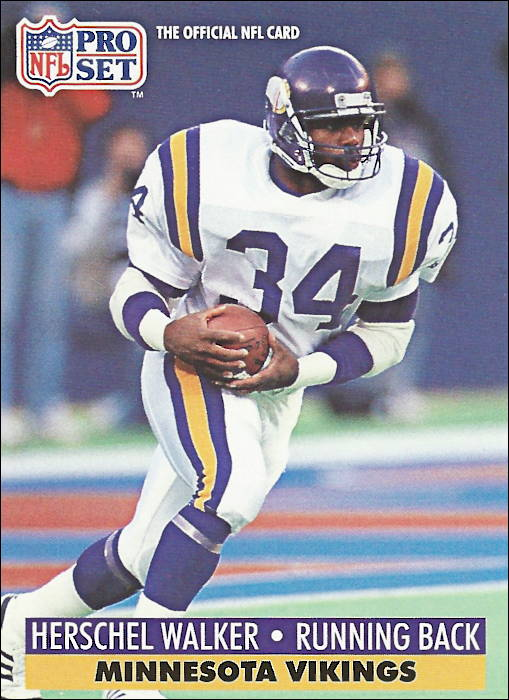 Herschel Walker 1991 Minnesota Vikings Pro Set Card