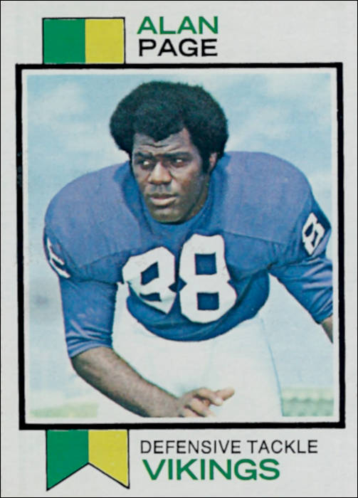 Alan Page 1973 Minnesota Vikings Topps Football Card