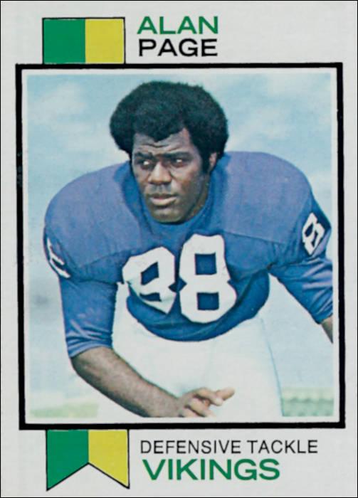 Alan Page 1973 Minnesota Vikings Topps Football Card