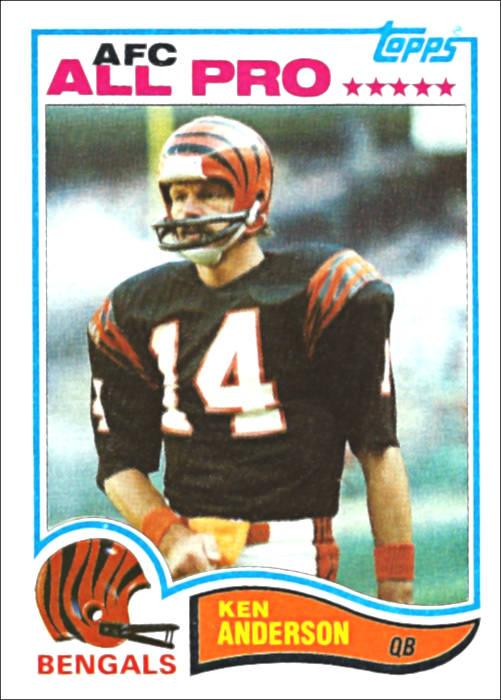 Ken Anderson 1982 All Pro Cincinnati Bengals Topps Card