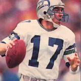 Seahawks QB Dave Krieg 1980-1989