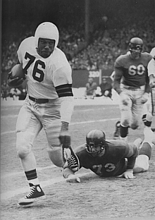 Fullback Marion Motley of the Cleveland Browns