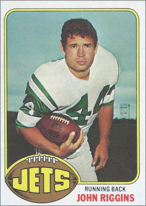 John Riggins 1976 Topps Card