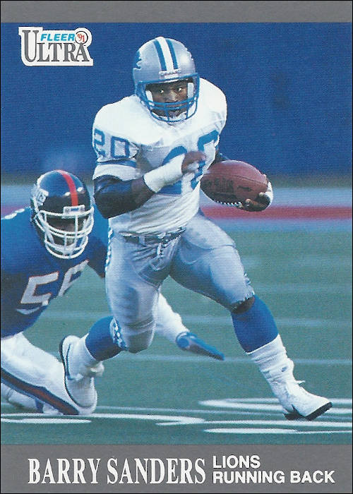 Barry Sanders 1991 Detroit Lions Fleer Football Card