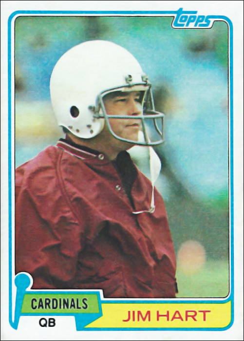 Jim Hart 1981 St. Louis Cardinals Football Card
