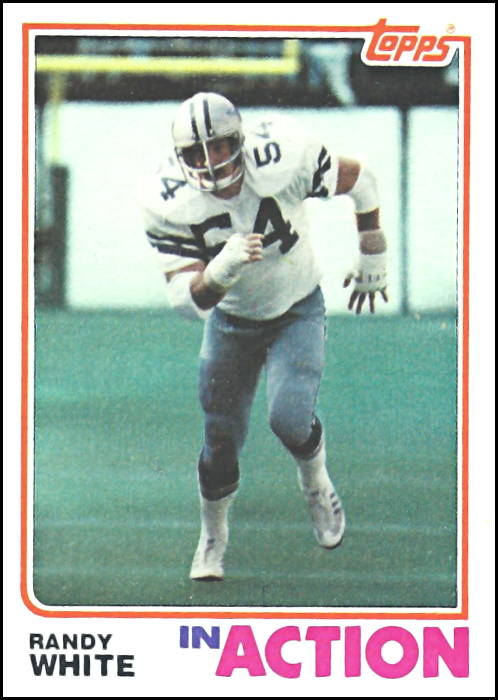 Randy White 1982 Dallas Cowboys Topps Football Card
