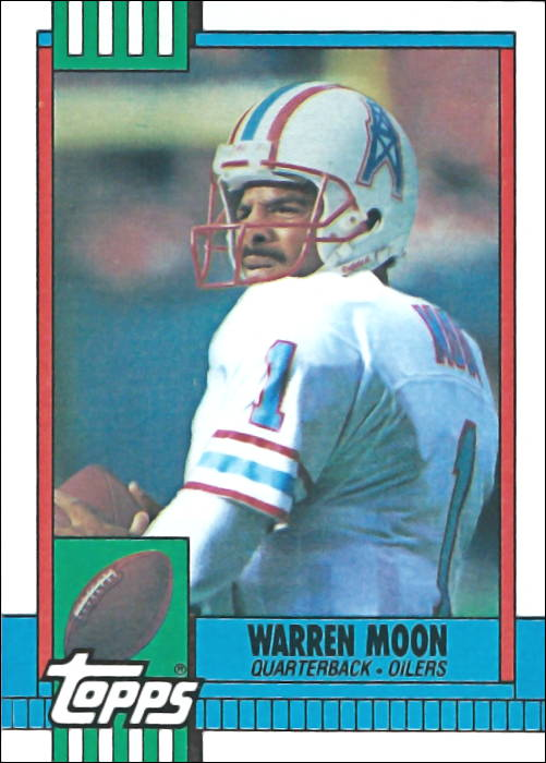 Warren Moon 1990 Houston Oilers Topps Football Card