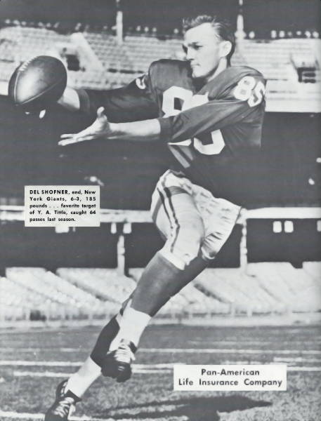 Giants Receiver Del Shofner - 1964 Offseason Photo Shoot