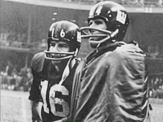 YA Tittle with Frank Gifford New York Giants