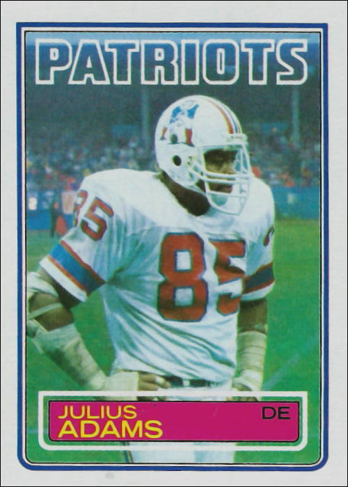 Julius Adams 1983 New England Patriots Topps Football Card