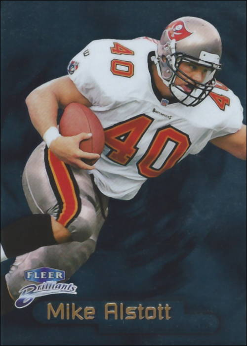 "Mike Alstott 1998 Tampa Bay Buccaneers Fleer ""Brilliants"" Football Card"