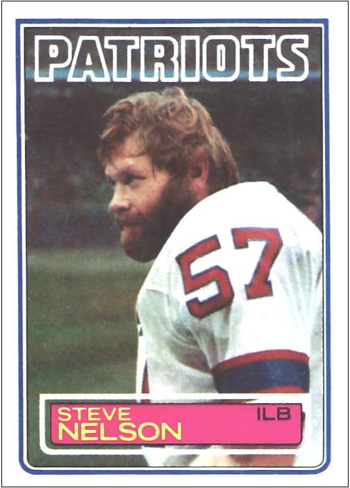 Steve Nelson 1983 New England Patriots Topps Football Card