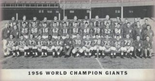 The Team Photo of the NFL Champion 1956 New York Giants