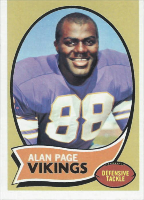 Alan Page 1970 Minnesota Vikings Topps Rookie Card