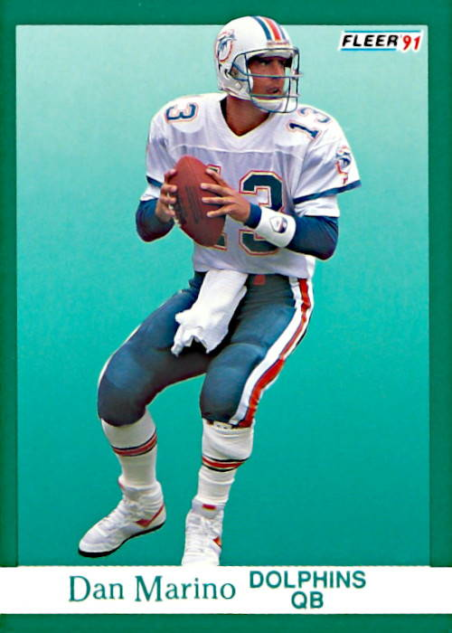 Dan Marino 1991 Miami Dolphins Fleer Football Card #124