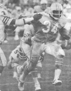 Earl Campbell Houston Oilers Rookie in 1978