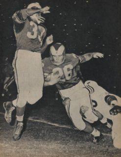 Ollie Matson and Jon Arnett with the 1961 Los Angeles Rams
