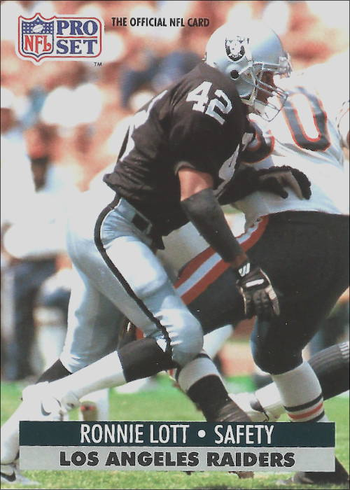 Ronnie Lott 1991 Los Angeles Raiders Pro Set Football Card #546