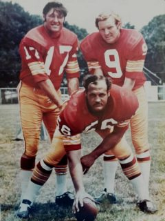 Billy Kilmer, Sonny Jurgensen and Len Hauss of the Washington Redskins