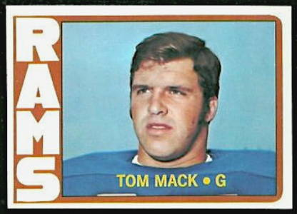 Tom Mack 1972 Los Angeles Rams Topps Football Card #337