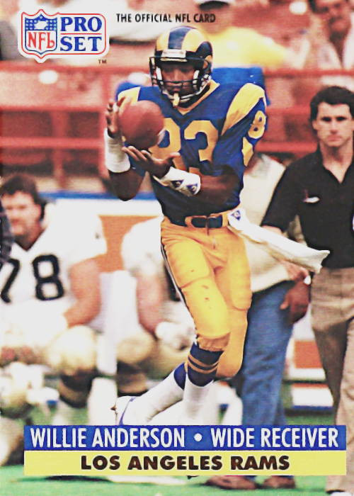 Willie Anderson 1991 Los Angeles Rams Pro Set Football Card #550
