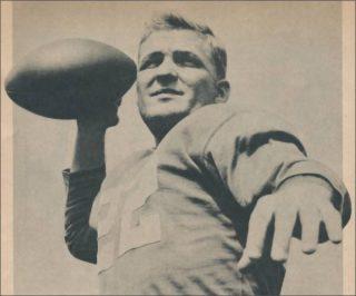 Bobby Layne Detroit Lions in 1956