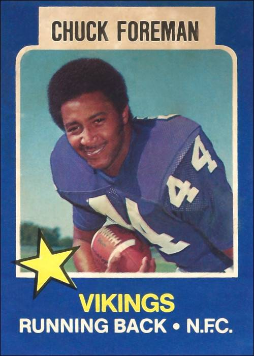 Chuck Foreman 1975 Minnesota Vikings Wonderbread Football Card