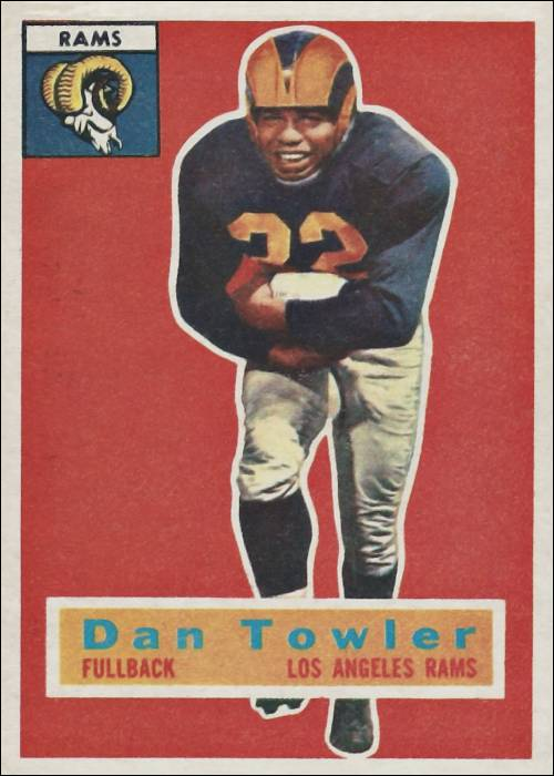 Dan Towler 1956 Los Angeles Rams Topps Football Card #90