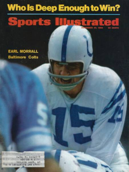 Earl Morrall of the Baltimore Colts on the Cover of Sports Illustrated November 1968