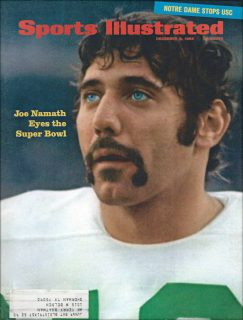 Joe Namath on the Cover of Sports Illustrated in December of 1968