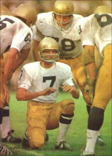 Joe Theismann as a Sophmore Quarterback with Notre Dame in 1968