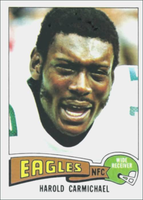 Harold Carmichael 1975 Philadelphia Eagles Topps Football Card #80